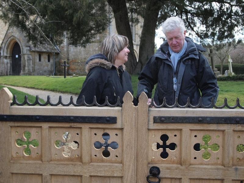 Janna and Henry at Wyck Rissington Church