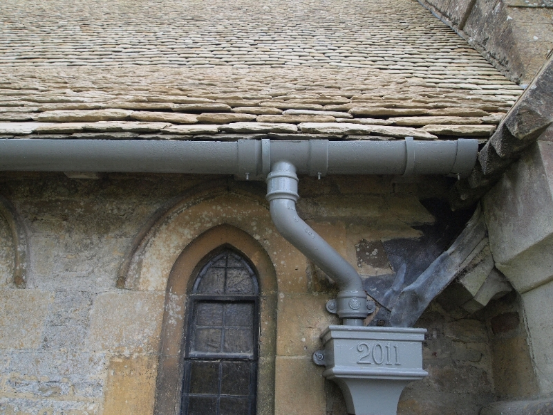 Wyck Rissington Church - detail with date